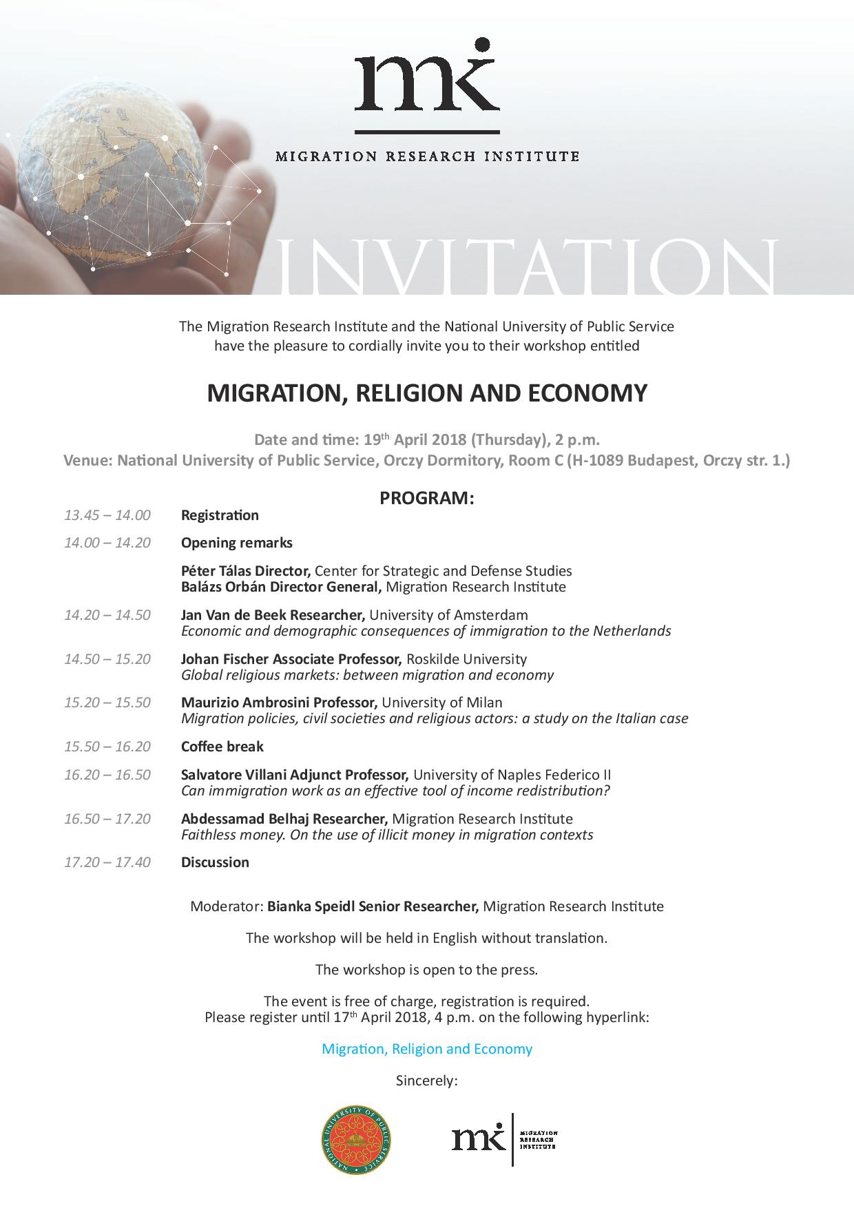 MIGRATION, RELIGION AND ECONOMY