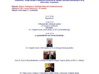 Közép-Európa A Monarchia Szétesésétől Az Európai Unió Keleti Kibővítéséig és Az új Kihívásokig