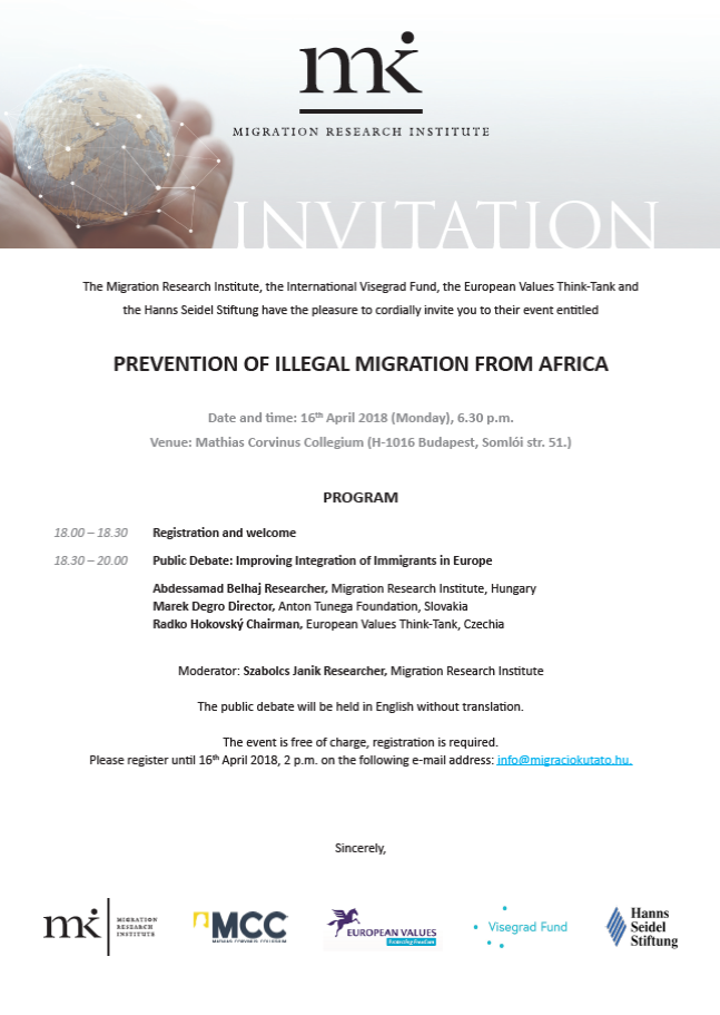 Prevention of Illegal Migration from Africa
