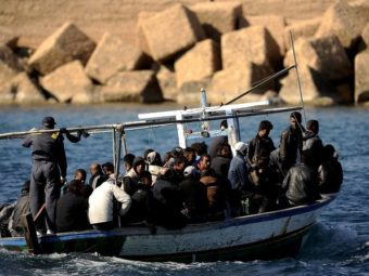TENSIONS ON LAMPEDUSA ARE AT BREAKING POINT