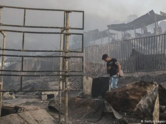 THE MORIA REFUGEE CAMP IN GREECE HAS BURNED DOWN