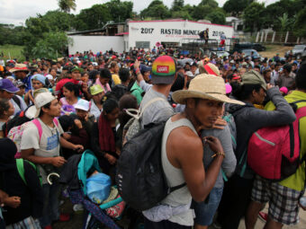NEW MASSES OF PEOPLE CAN LEAVE CENTRAL AMERICA FOR THE UNITED STATES